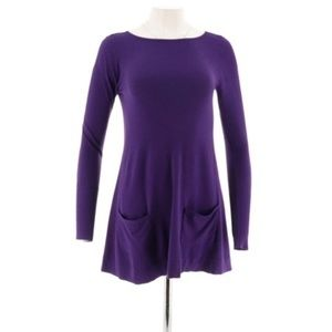 Purple XS Susan Graver Tunic Length Top